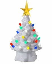 7.5 In. Battery Operated LED Candy Light Tree Table Piece w/ Timer