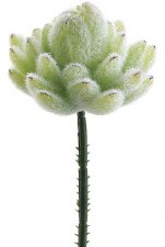 "Agave Mini Cactus Pick, 7.5""- Flocked Green"