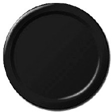 """Touch of Color 7"""" Paper Plate, 24ct- Black"""