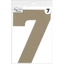 "8"" Chipboard Number- 7"