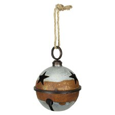 Galvanized Rustic Jingle Bell, 7""