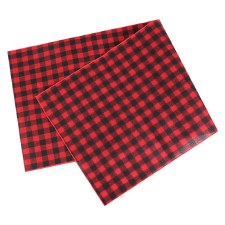 "Buffalo Check Table Runner, 72""x14""- Red & Black"