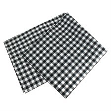 "Buffalo Check Table Runner, 72""x14""- White & Black"