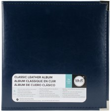 We R Memory Keepers 8.5x11 Classic Leather 3-Ring Album- Navy