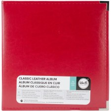 We R Memory Keepers 8.5x11 Classic Leather 3-Ring Album- Red