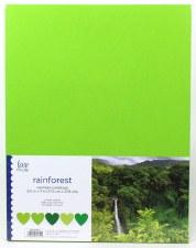 "8.5x11"" Cardstock Pack, 50pc- Rainforest"