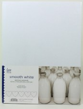 "8.5x11"" Cardstock Pack, 50pc- Smooth White"