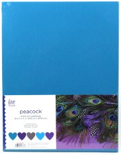"8.5x11"" Cardstock Pack, 50pc- Peacock"