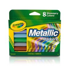 Crayola Metallic Markers, 8ct