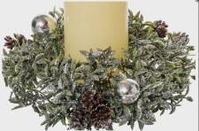 "8"" Glitter Tea Leaf Wreath"