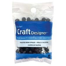 Craft Designer Faceted 8mm Beads- Black