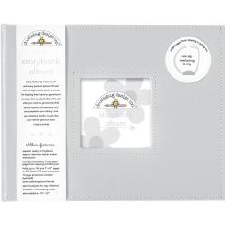 Doodlebug 8x8 Storybook 2-Ring Album- Gray