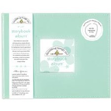 Doodlebug 8x8 Storybook 2-Ring Album- Mint