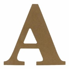 "9.5"" MDF Letter- A"