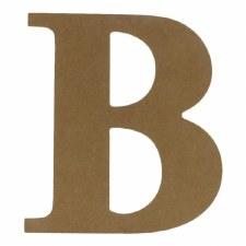 """9.5"""" MDF Letter- B"""