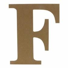 """9.5"""" MDF Letter- F"""