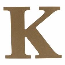 """9.5"""" MDF Letter- K"""