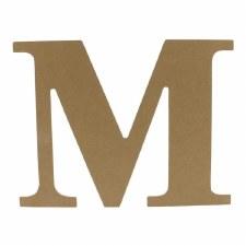 """9.5"""" MDF Letter- M"""