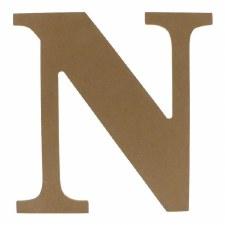 """9.5"""" MDF Letter- N"""