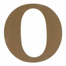 """9.5"""" MDF Letter- O"""