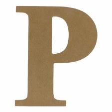 """9.5"""" MDF Letter- P"""