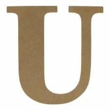 """9.5"""" MDF Letter- U"""