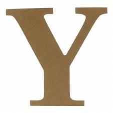 """9.5"""" MDF Letter- Y"""