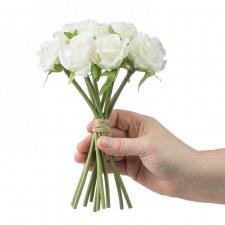"Abby Rose 9"" Bouquet - Cream"