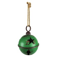 Green Rustic Jingle Bell, 9""