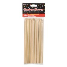 "9"" Wood Bamboo Skewer Sticks 100pc."