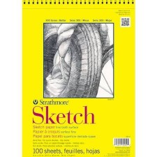 "Strathmore 300 Series 9""x12"" Sketch Pad, 100 Sheets"