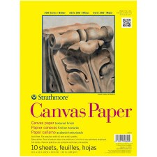 "Strathmore 300 Series 9""x12"" Canvas Paper Pad, 10 Sheets"