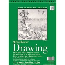 "Strathmore 400 Series 9""x12"" Recycled Drawing Paper Pad, 24 Sheets"