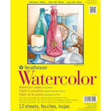 "Strathmore 300 Series 9""x12"" Watercolor Pad, 12 Sheets"