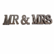 """5"""" Mr & Mrs Table Top MDF"""