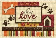 Dimensions Cross Stitch Kit- A Dog's Love