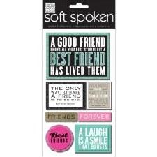 MAMBI Soft Spoken Stickers- Friends- A Good Friend