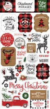 A Lumberjack Christmas Chipboard Phrases
