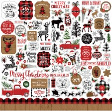 A Lumberjack Christmas Sticker Sheet