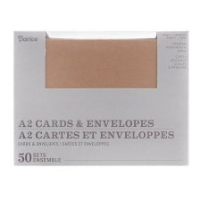 A2 Cards & Evelopes Boxed Set, 50ct- Kraft