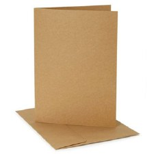 Core'dinations A2 Cards & Envelopes Pack, 12ct- Kraft