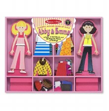 Melissa & Doug Magnetic Dress Up- Abby and Emma