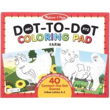Dot to Dot ABC Coloring Pad- Farm