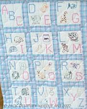 "9"" Quilt Blocks- ABC Nursery"