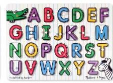 Melissa & Doug See Inside Peg Puzzle- Alphabet