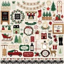 A Cozy Christmas Element Sticker Sheet