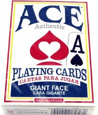 Ace Playing Cards, Giant Face