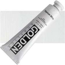 Golden Heavy Body Artist Acrylics, 2oz- Titanium White