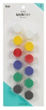 Nicole Acrylic Paint Pots, 12ct- Primary Assortment