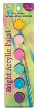 Nicole Acrylic Paint Pots, 6ct- Bright Assortment